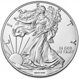1 Ounce Silver American Eagle Back Dated